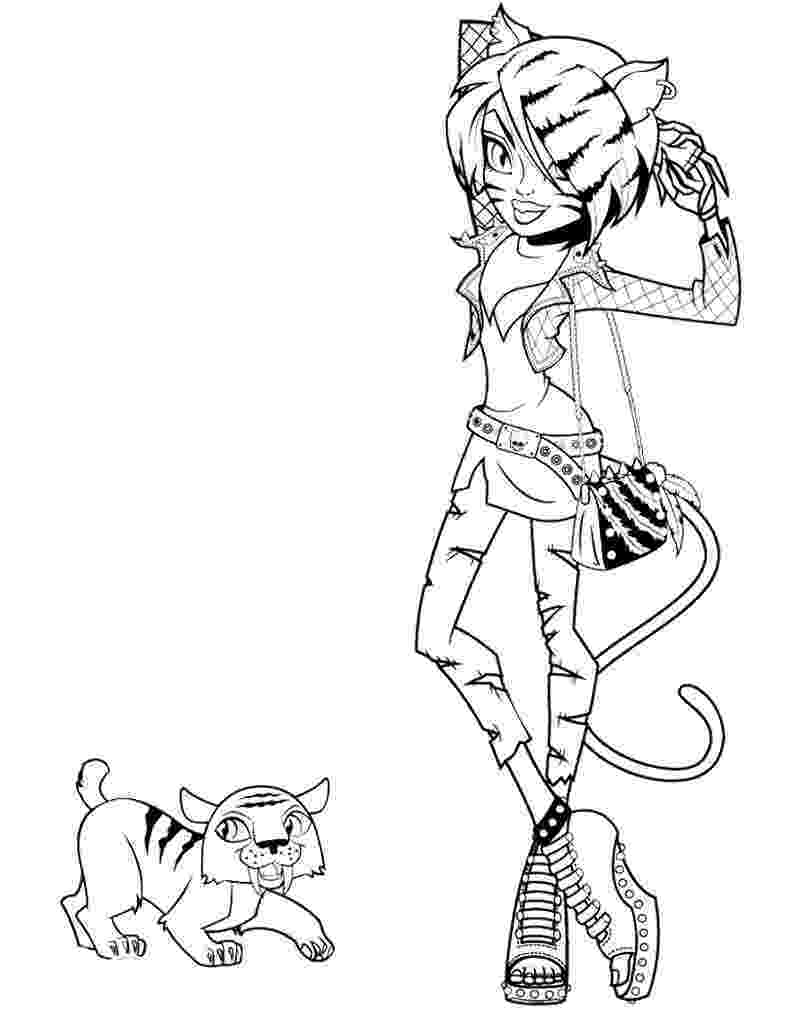 monster high pages to color monster high coloring pages getcoloringpagescom monster color high pages to