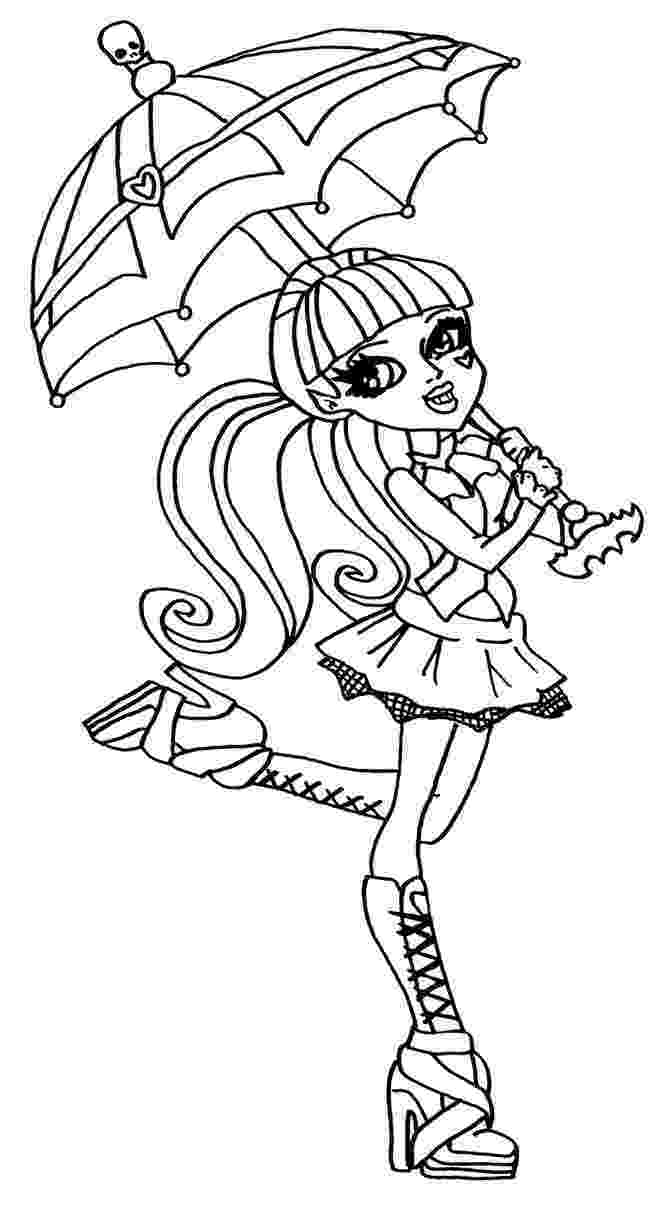 monster high printable coloring pages monster high haunted coloring pages to download and print coloring high monster pages printable