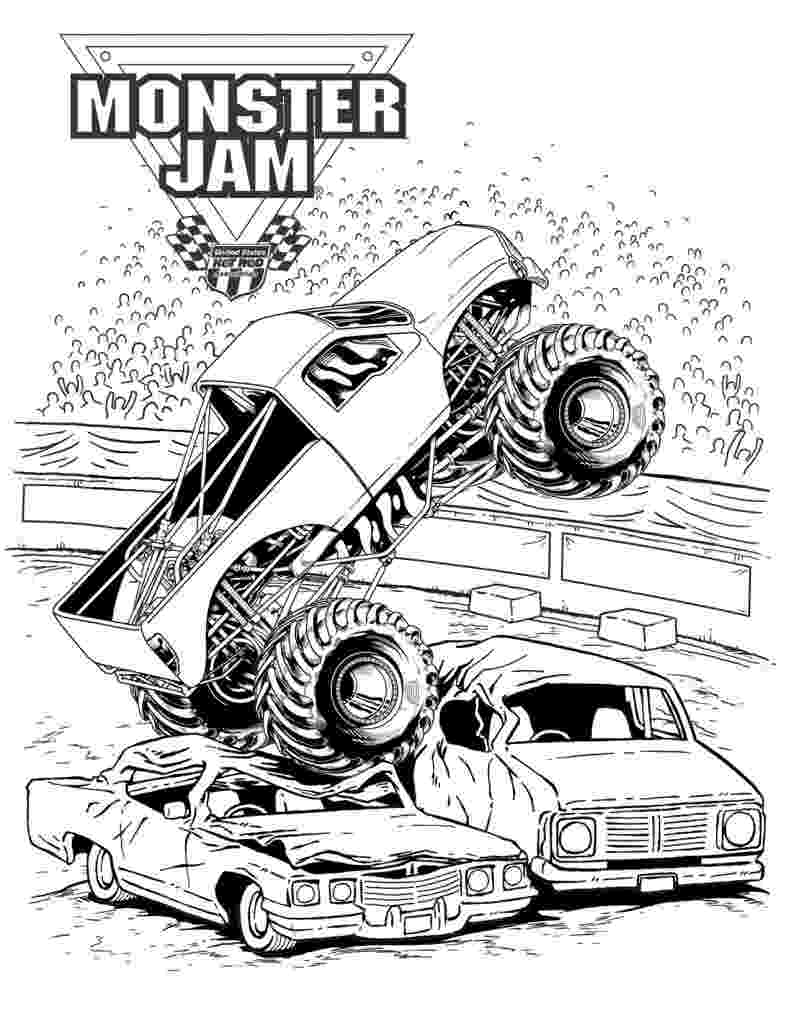 monster trucks to color bigfoot monster truck coloring page free printable monster trucks color to