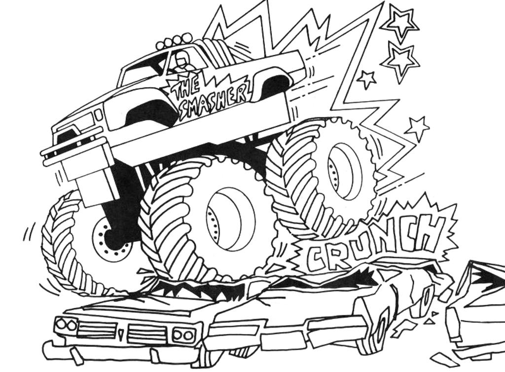 monster trucks to color monster truck monster truck jumps over cars coloring color monster trucks to