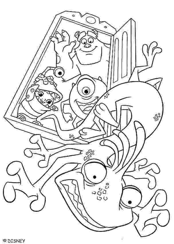 monsters inc pictures to colour mike wazowski coloring pages hellokidscom monsters colour pictures to inc