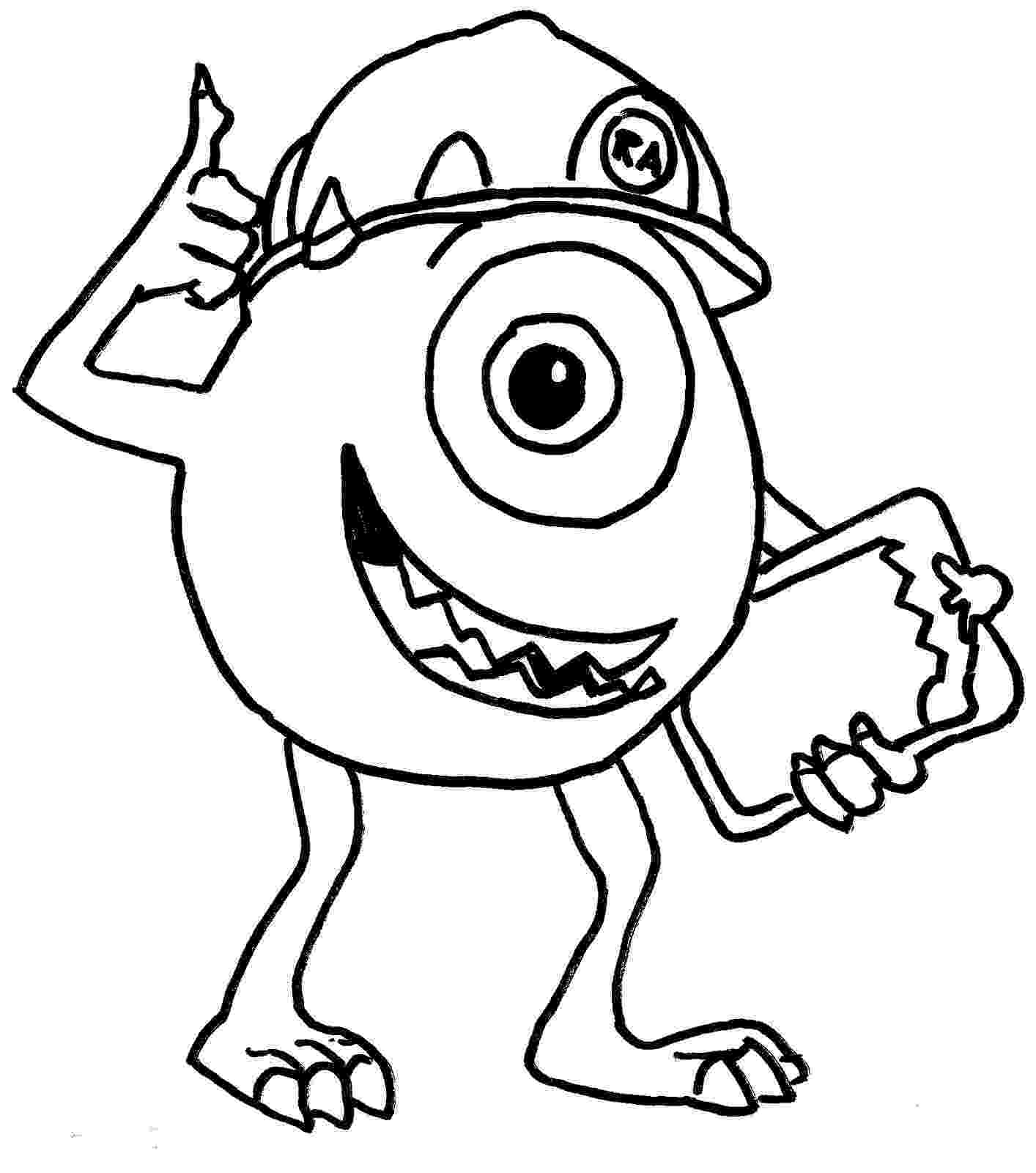 monsters inc pictures to colour monster inc coloring pages to monsters pictures inc colour