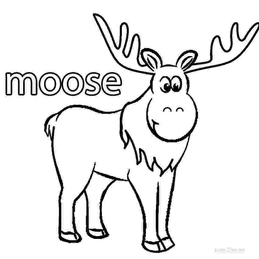 moose pictures to color moose coloring page free printable coloring pages color pictures to moose