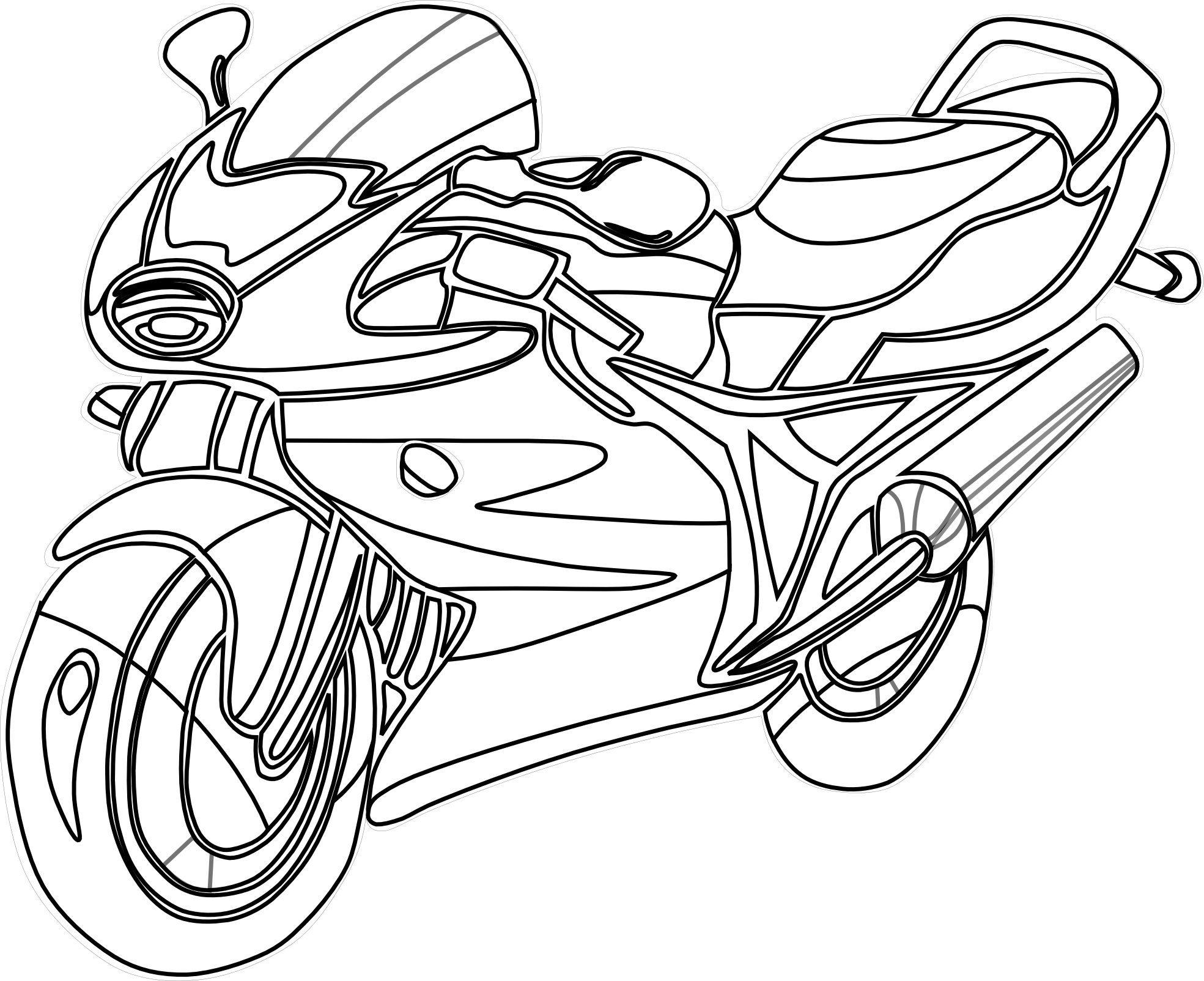 motorbike colouring mewarnai gambar motor motorbike colouring