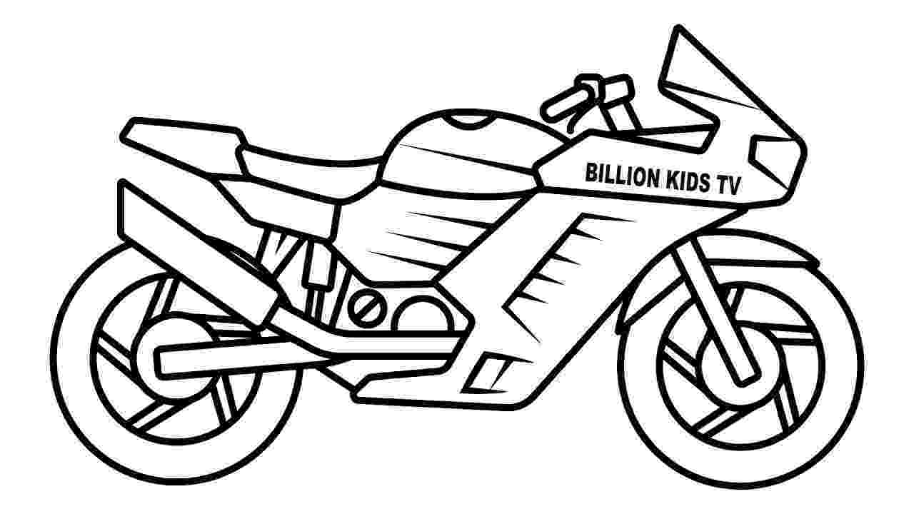 motorbike colouring motorcycle drawing for kids at paintingvalleycom motorbike colouring