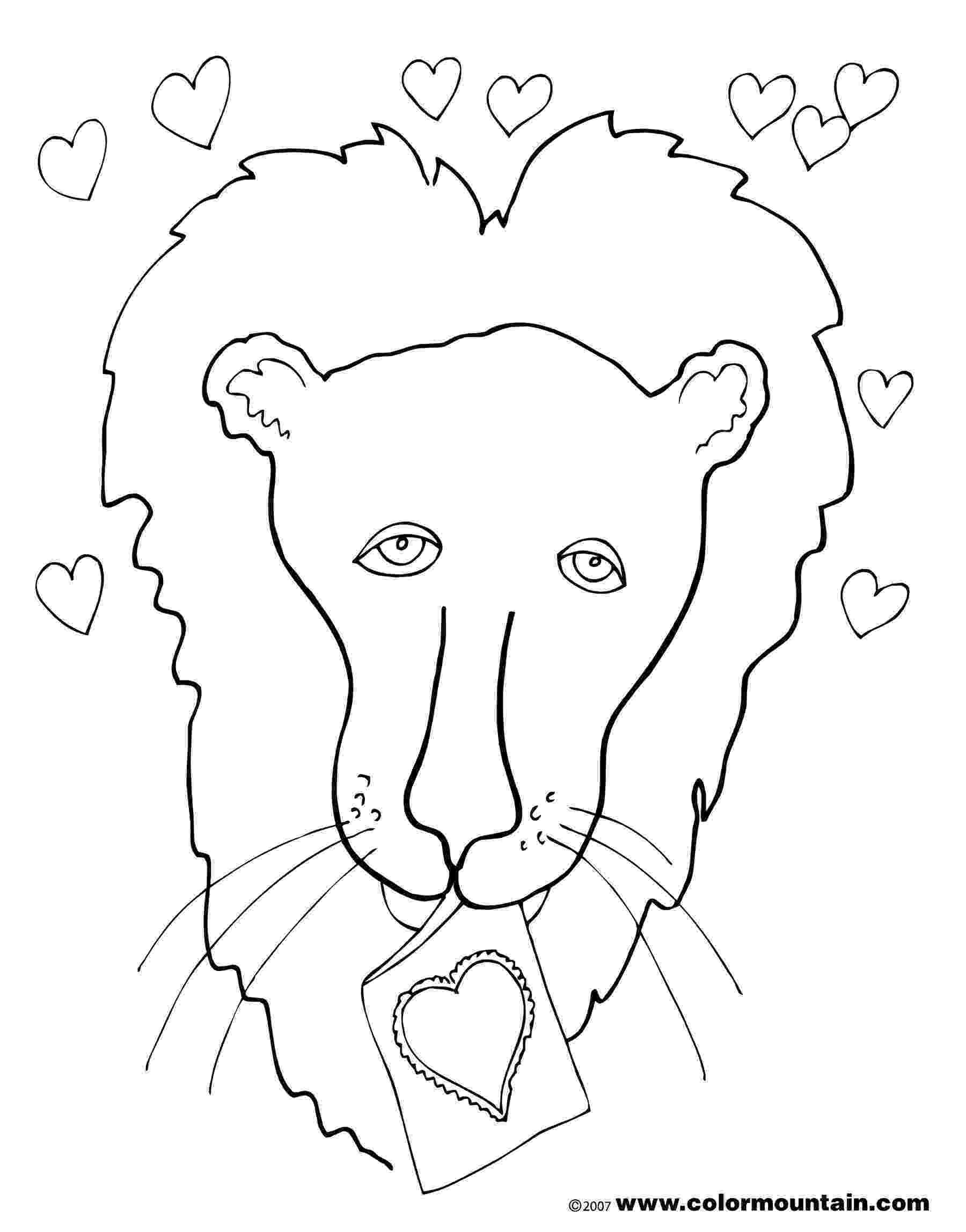 mountain lion coloring pages sitting cougar coloring page free printable coloring pages pages lion coloring mountain