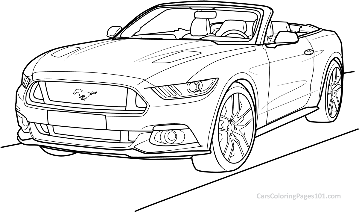 mustang coloring pictures ford mustang convertible 2015 front view coloring page mustang coloring pictures