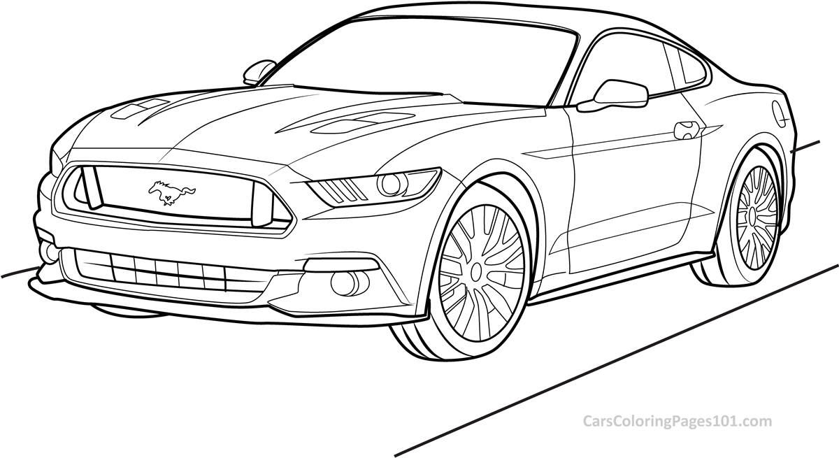mustang coloring pictures ford mustang gt 2015 front view coloring page free pictures mustang coloring