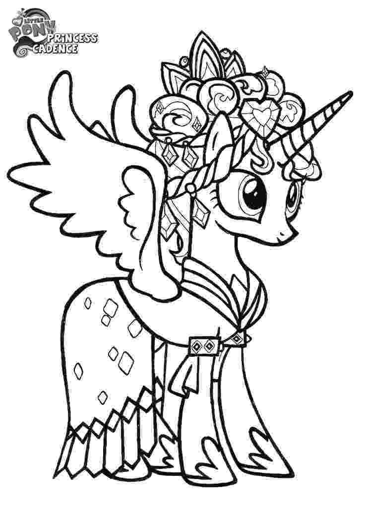 my little pony princess cadence coloring page my little pony cadence coloring pages at getcoloringscom cadence my pony little page princess coloring