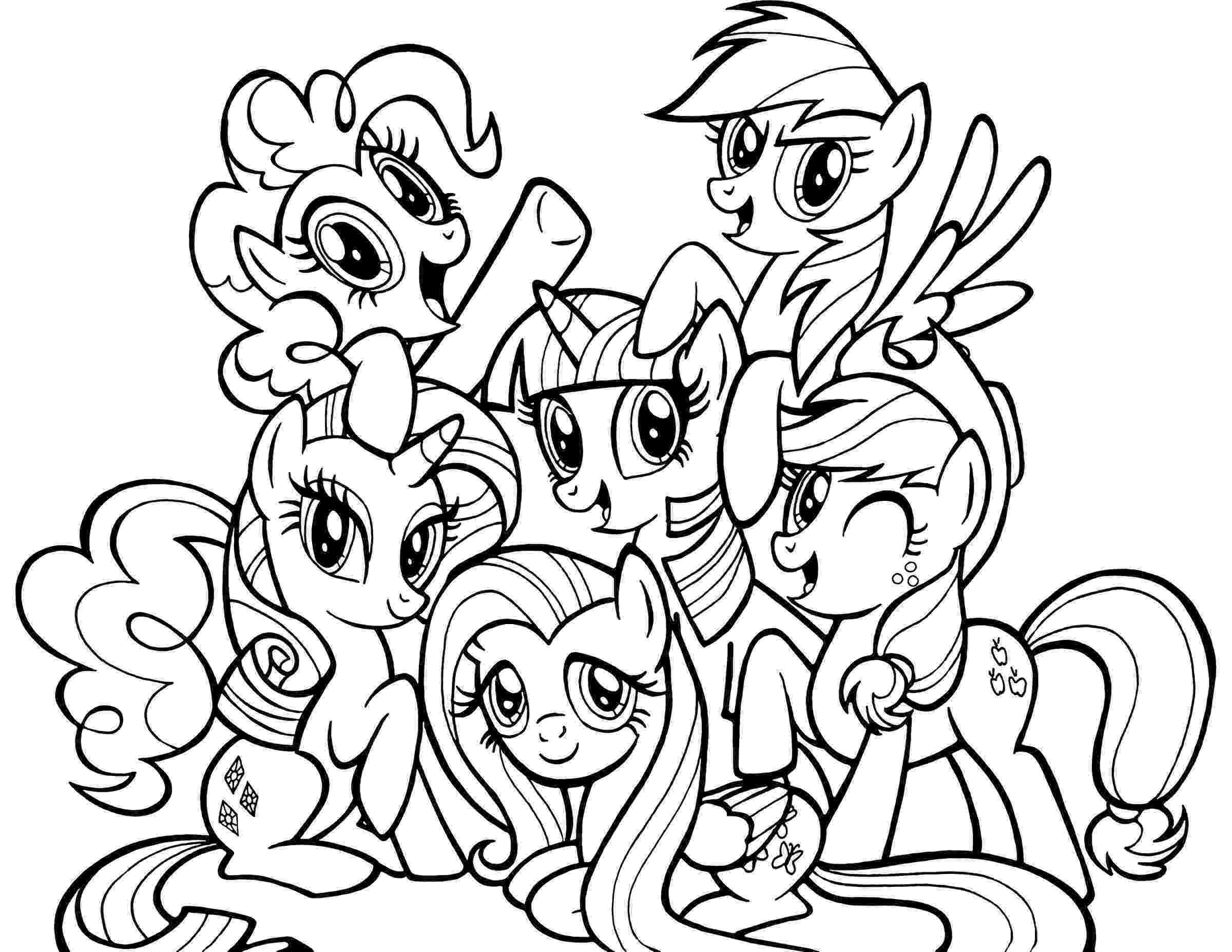 my little pony printable pages ponies from ponyville coloring pages free printable my pony pages little printable