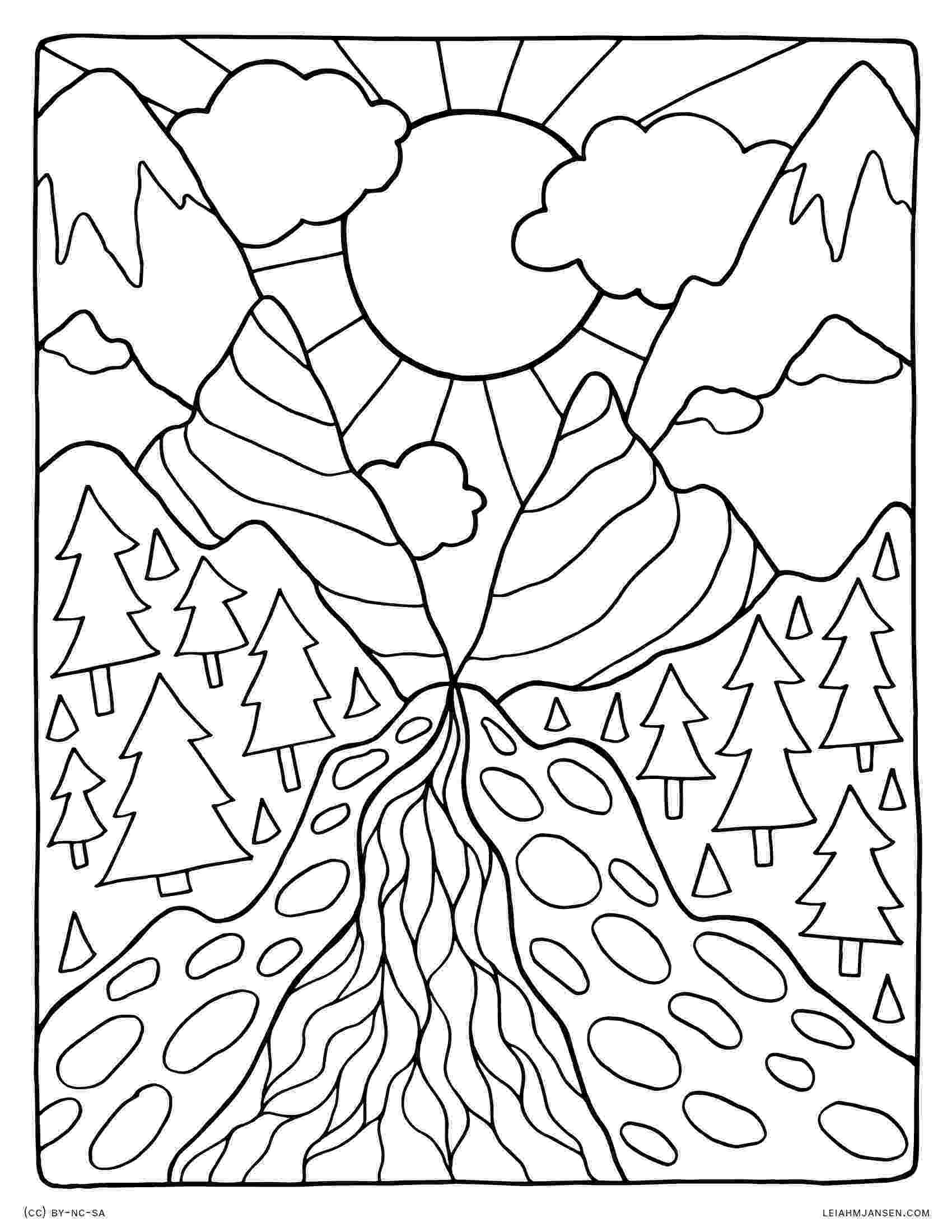 nature coloring pages for adults coloring pages for adultsdecorative hand drawn doodle pages coloring nature adults for