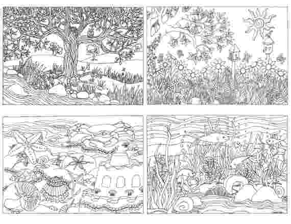 nature coloring pages for adults free coloring page for adults nature with doodles adults pages coloring nature for