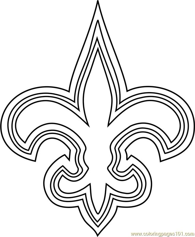 new orleans saints coloring pages new orleans saints logo coloring page free nfl coloring saints pages orleans coloring new