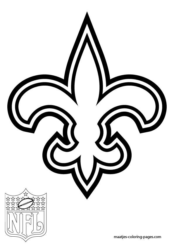 new orleans saints coloring pages new orleans saints logo coloring page supercoloringcom saints new pages coloring orleans