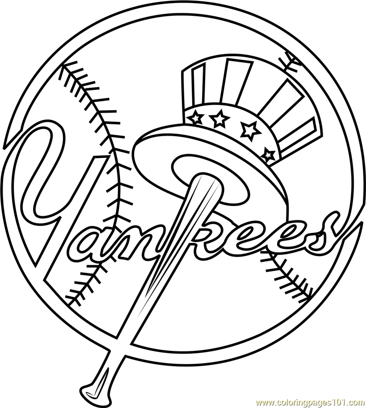 new york yankees symbol coloring pages new york yankees logo coloring page free mlb coloring symbol york new pages coloring yankees