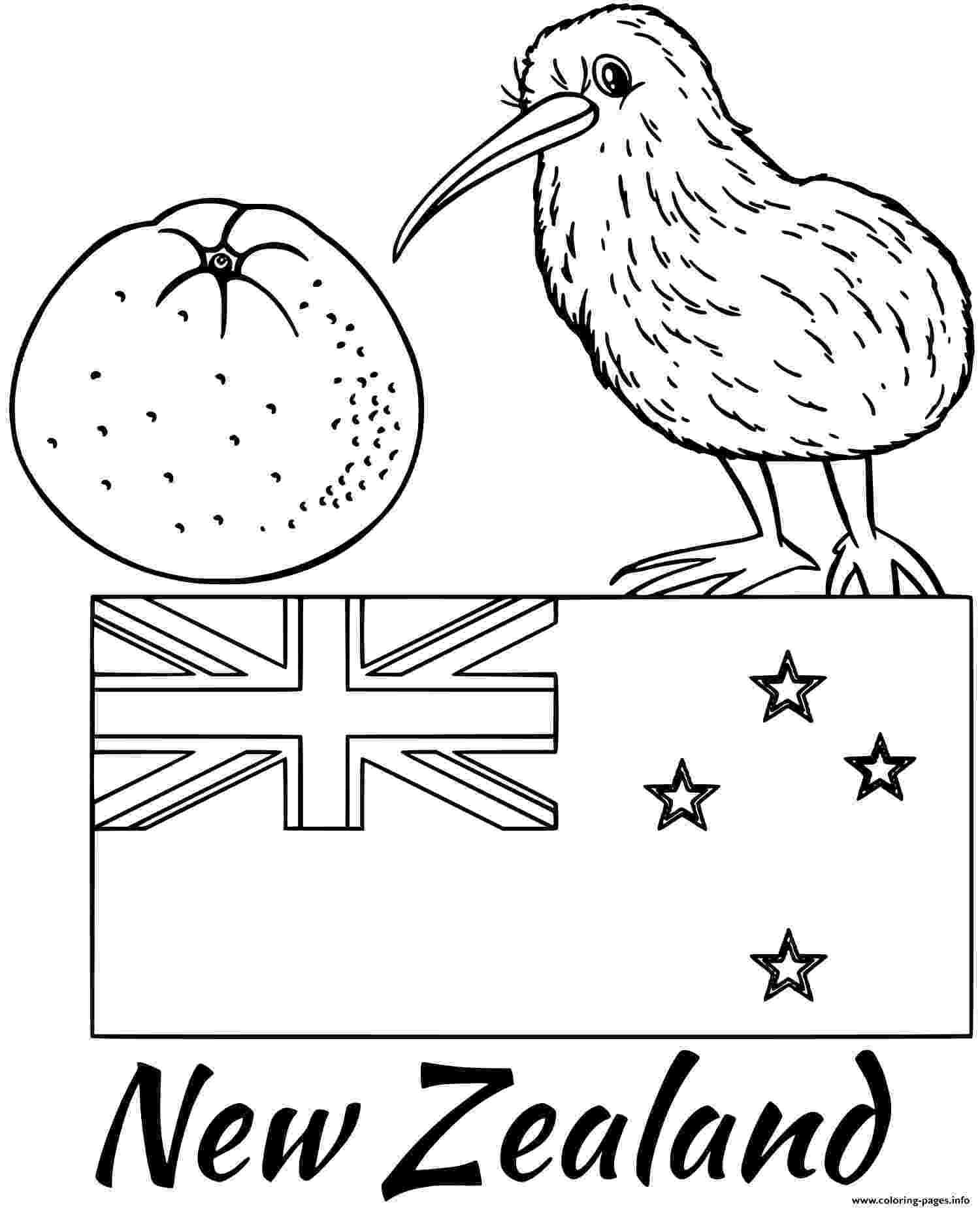 new zealand flag coloring page new zealand flag kiwi coloring pages printable new page coloring flag zealand