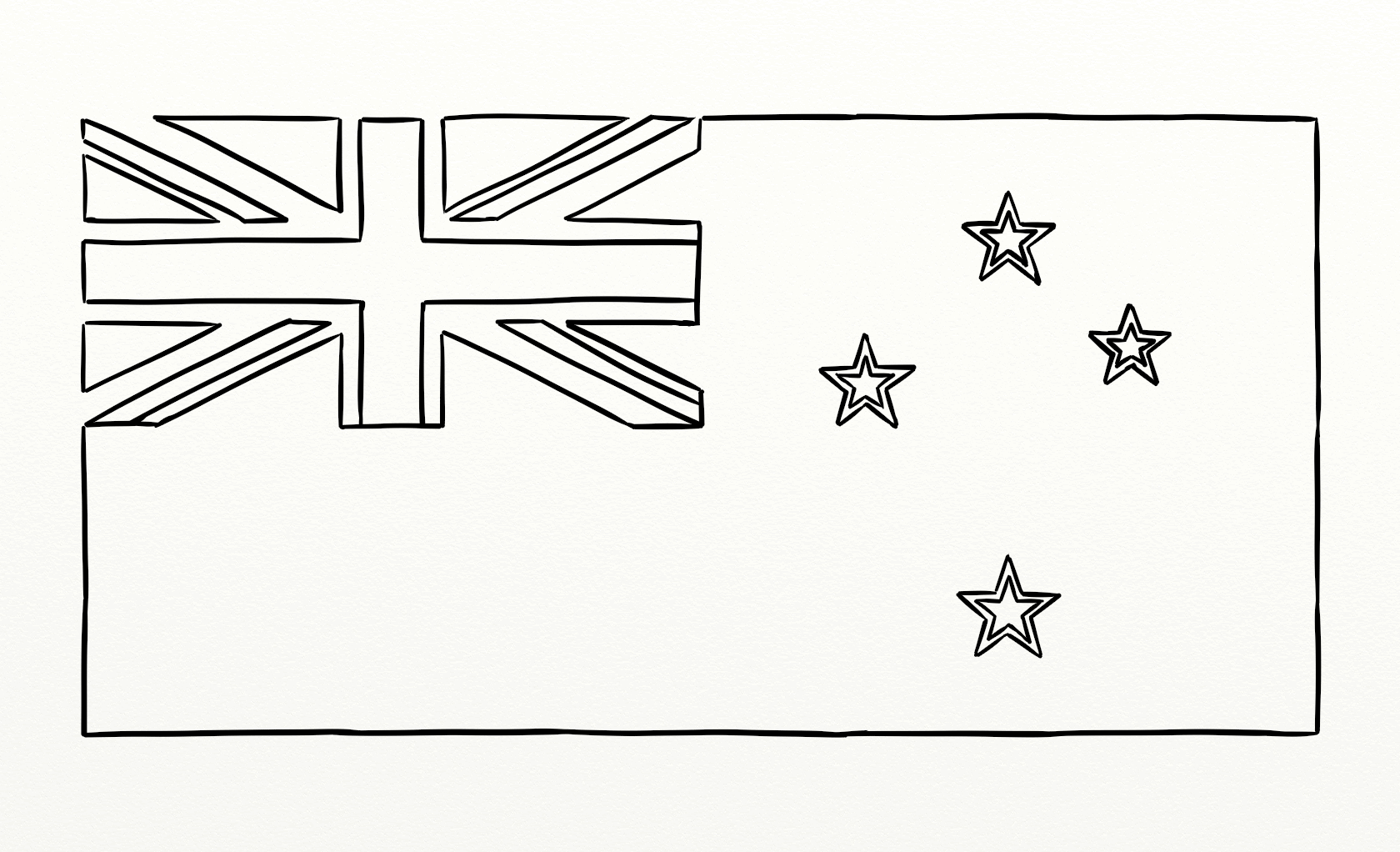 new zealand flag coloring page new zealand flag outline for colouring in learning coloring flag page new zealand