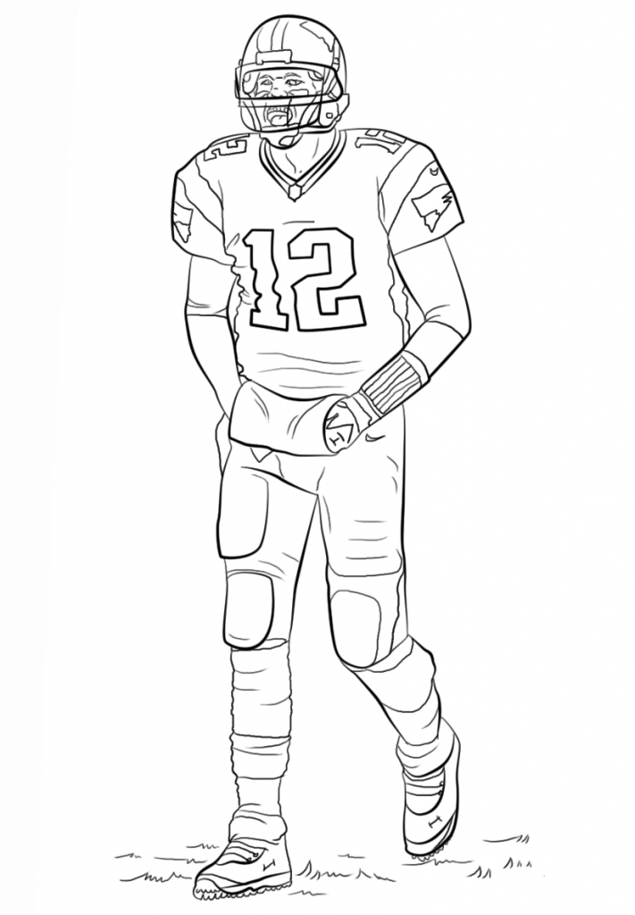 nfl football coloring pages nfl football players drawing at getdrawingscom free for football pages nfl coloring