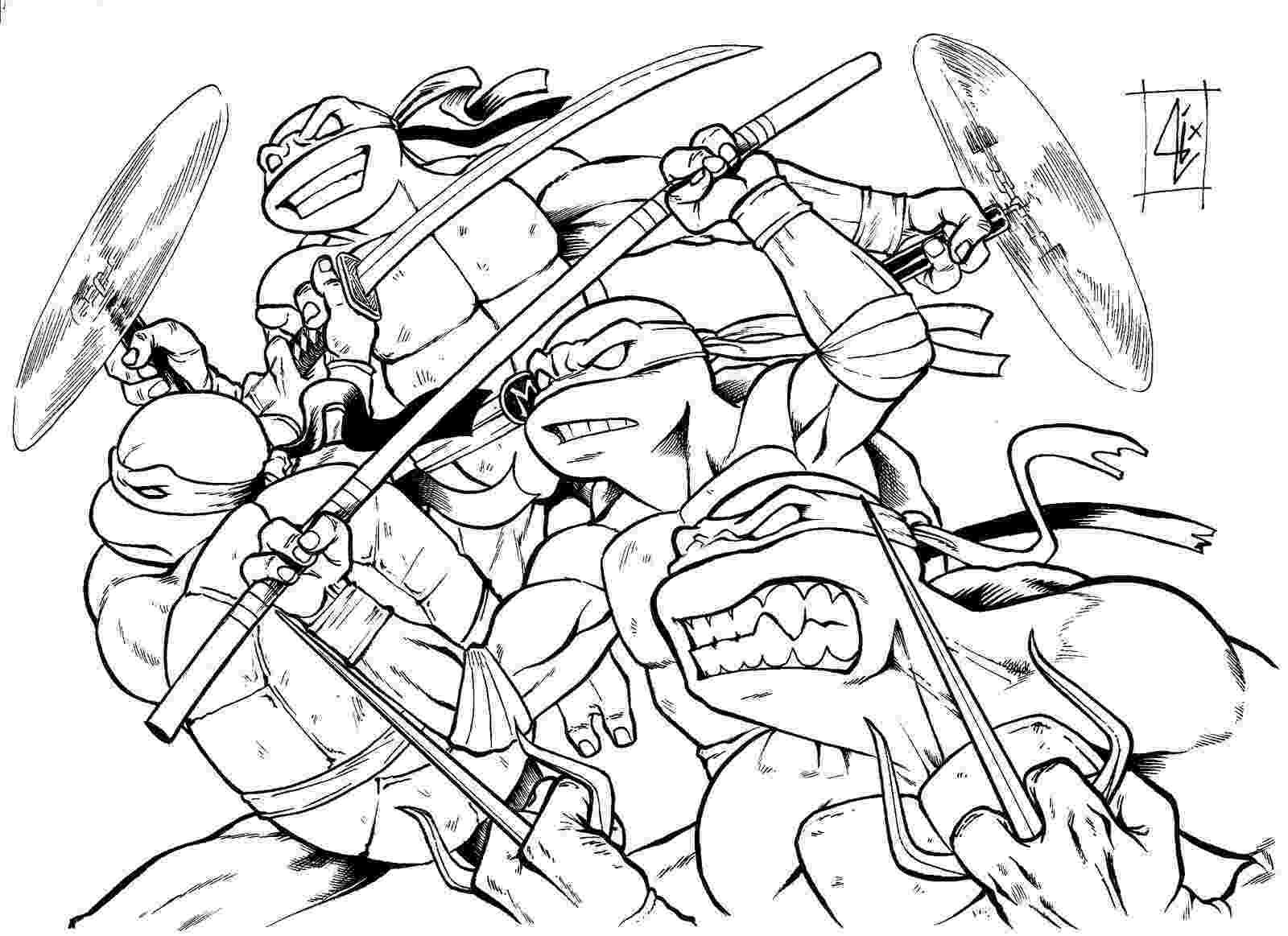 ninja turtle colouring page teenage mutant ninja turtles coloring pages best colouring turtle ninja page