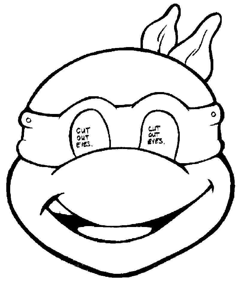 ninja turtles face coloring pages peace love cake october 2013 turtles coloring ninja face pages