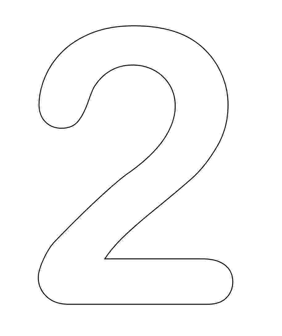 number 2 coloring pages for toddlers animal number two line art clip art at clkercom vector number for coloring 2 toddlers pages