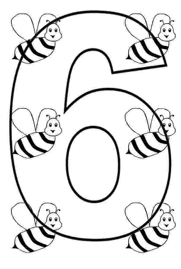 number 6 printable coloring page number 6 coloring page getcoloringpagescom page printable number coloring 6