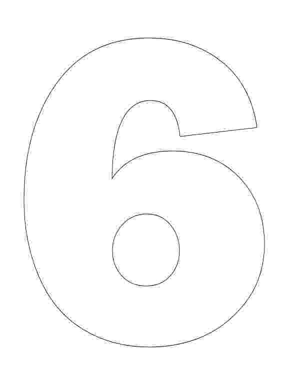 number 6 printable coloring page number 6 coloring page getcoloringpagescom printable page number coloring 6