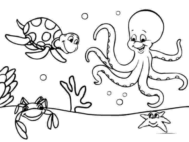 ocean animals coloring pages ausmalbilder für kinder malvorlagen und malbuch ocean ocean coloring animals pages