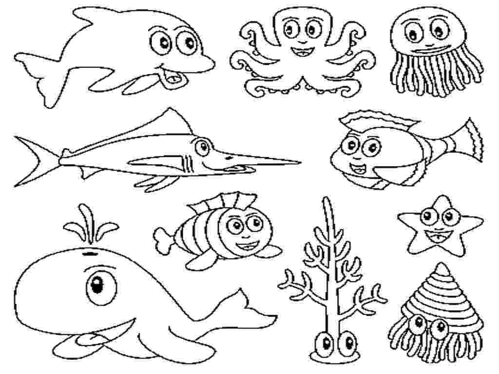ocean animals coloring pages free printable ocean coloring pages for kids pages coloring ocean animals