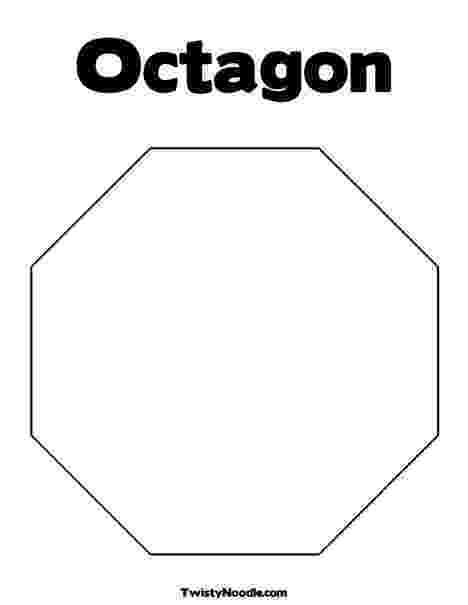 octagon coloring sheet o is for octagon worksheet twisty noodle octagon coloring sheet