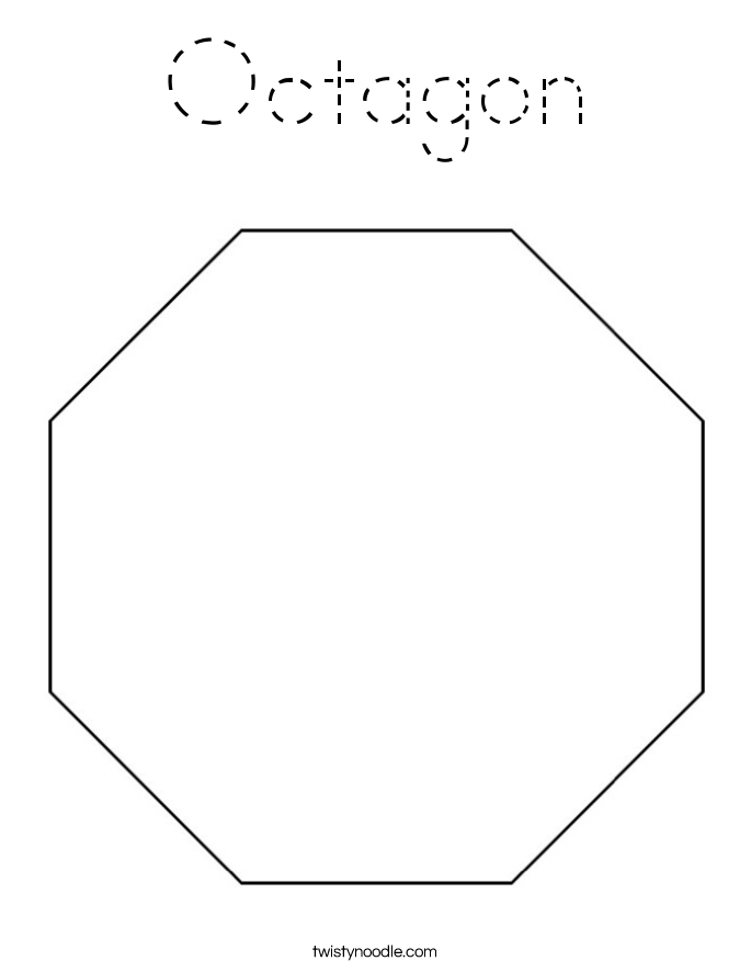octagon coloring sheet trace and color the octagon coloring page twisty noodle coloring octagon sheet