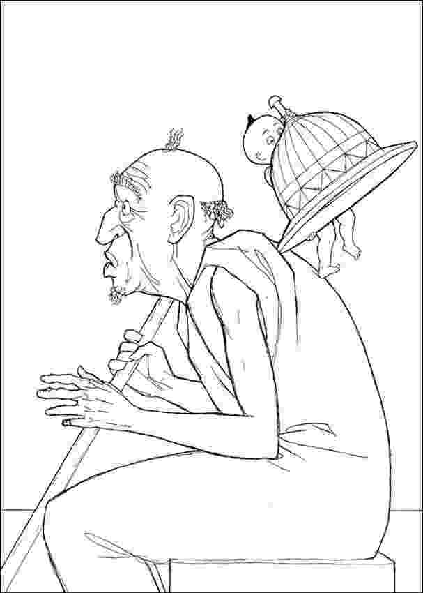 old man coloring pages on growing older the musings of an old man baka rider man old pages coloring