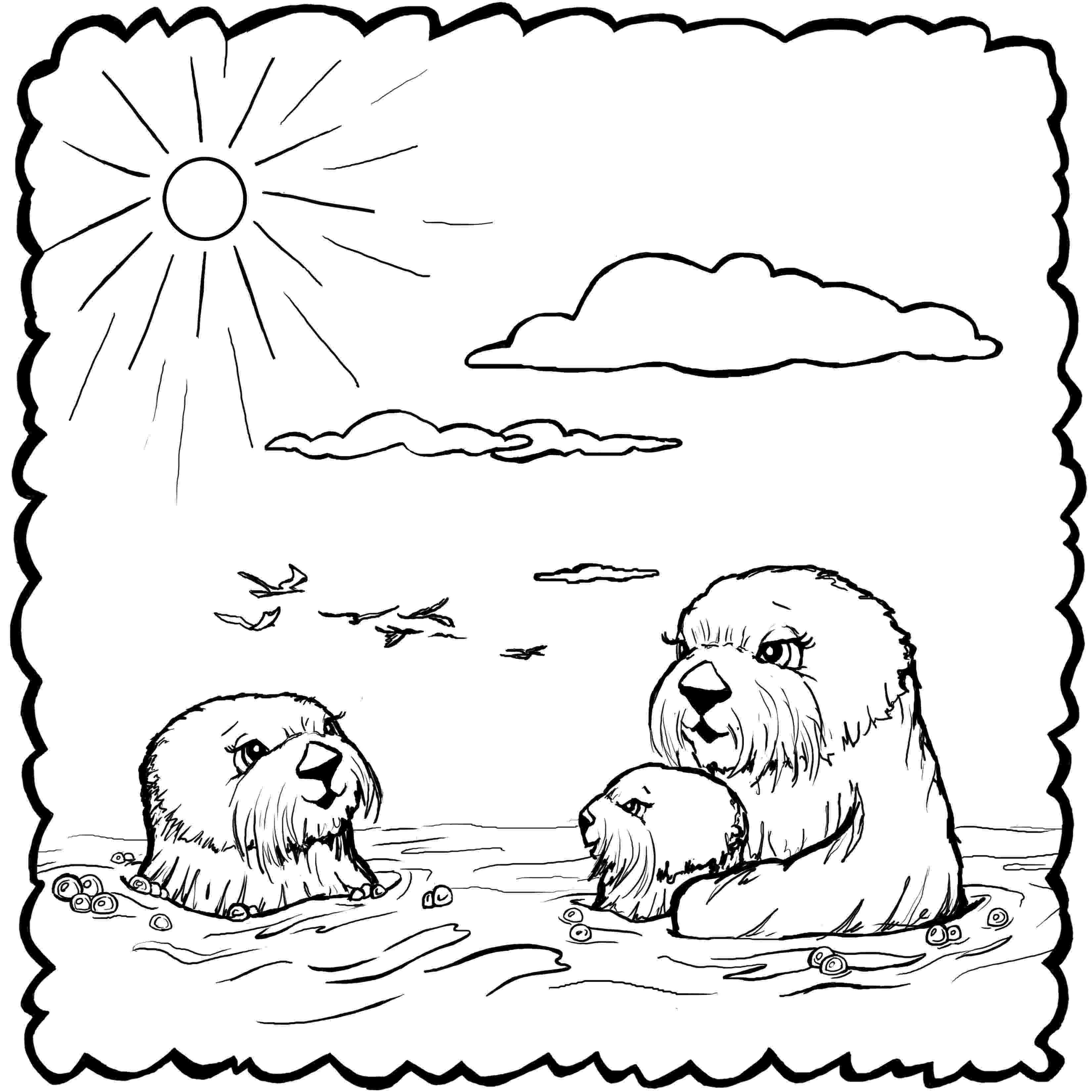 otter coloring pages free otter coloring pages otter coloring pages