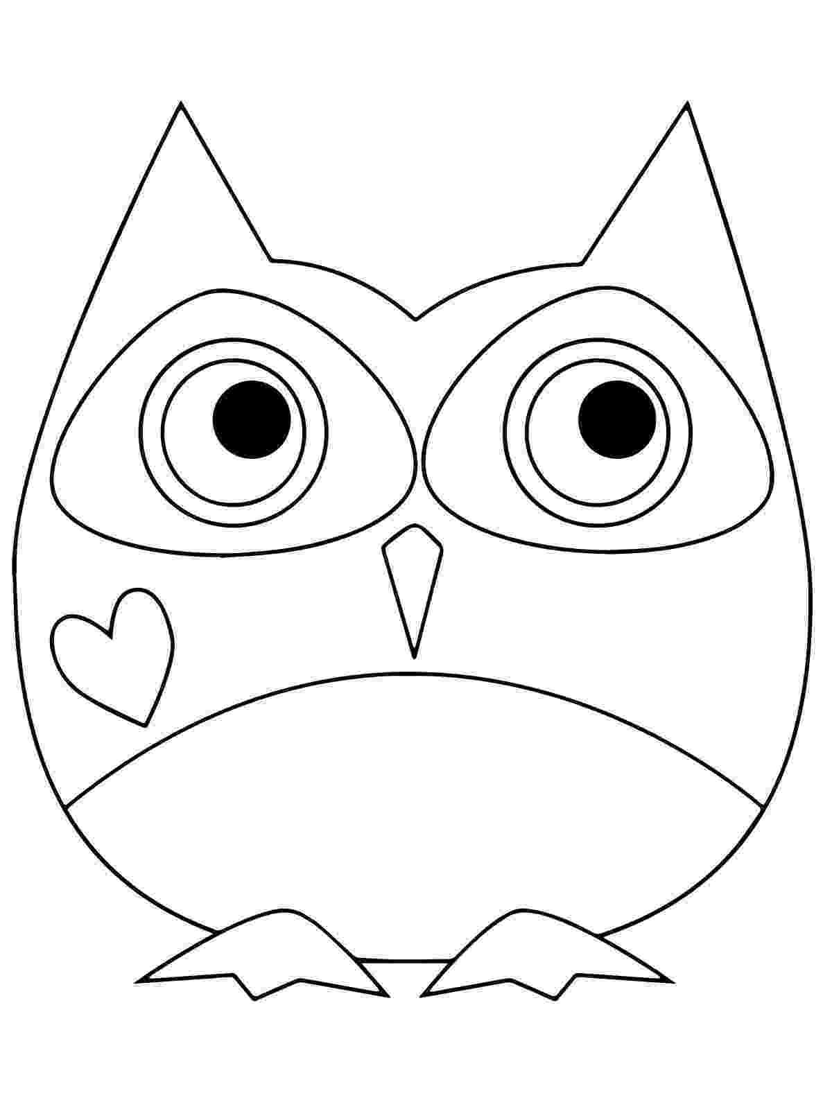 owl colour coloring pages colour owl