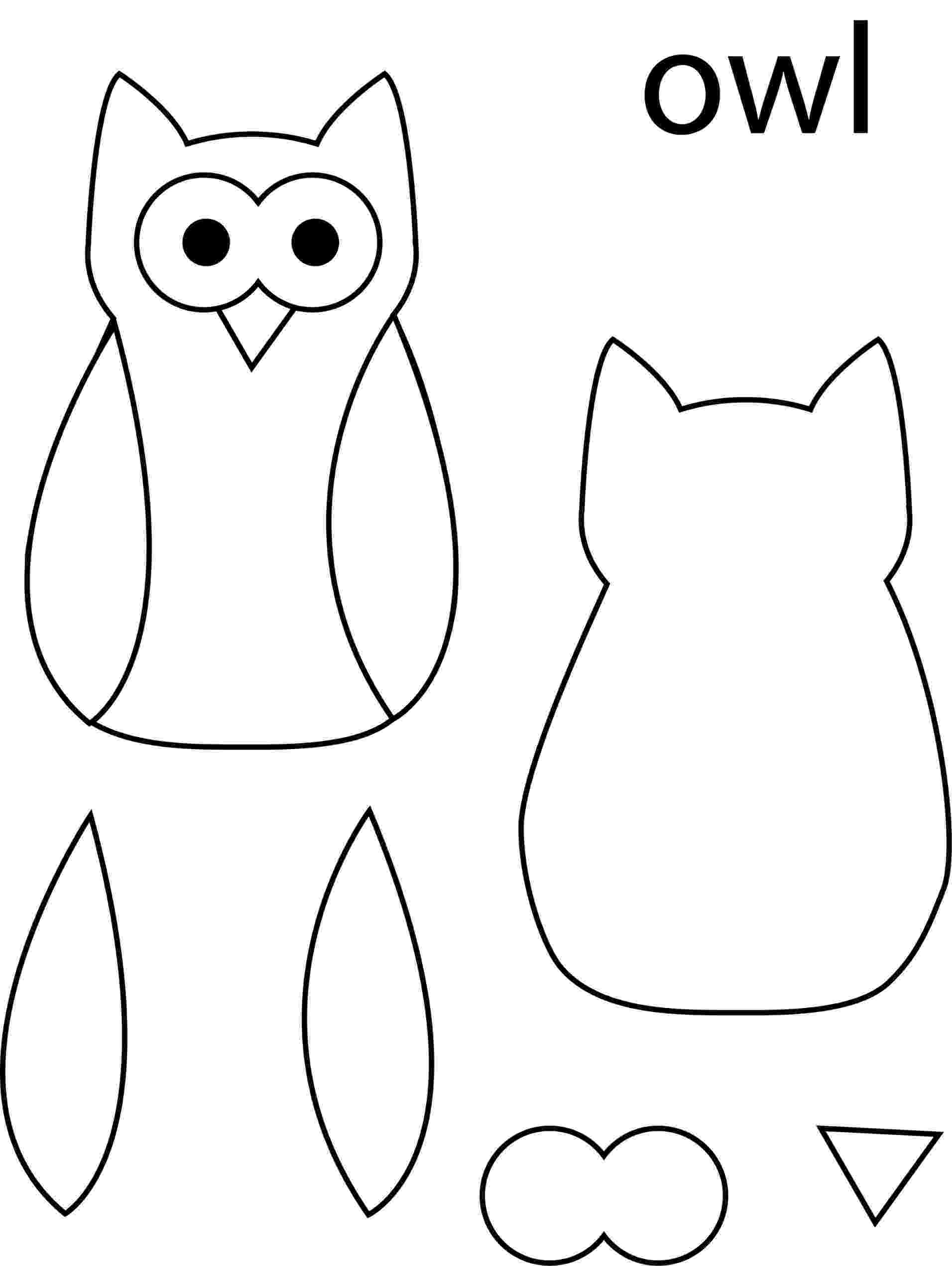 owl colouring template owl template google search owl clip art owl images owl colouring template