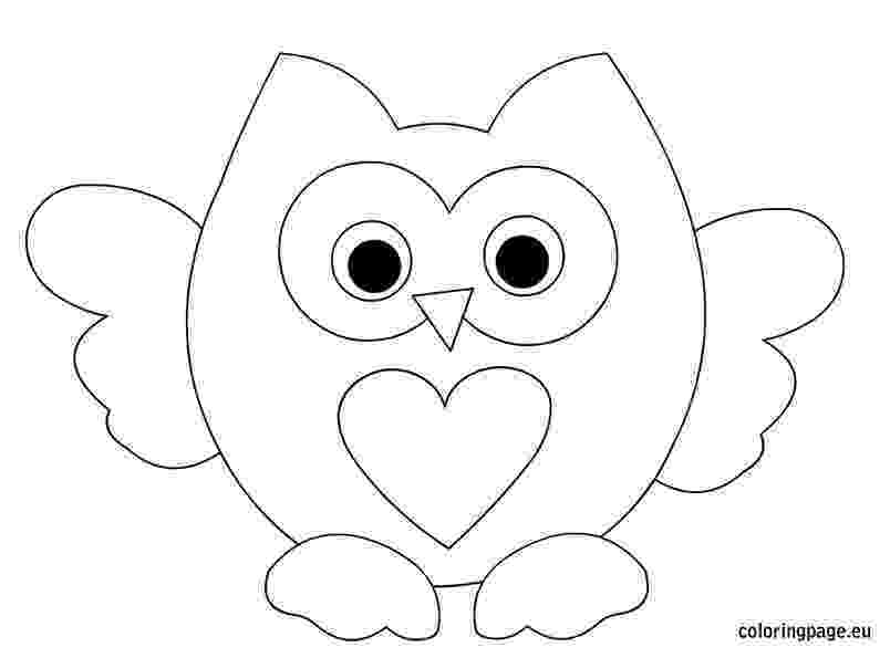 owl colouring template owls brownie meeting ideas colouring owl template