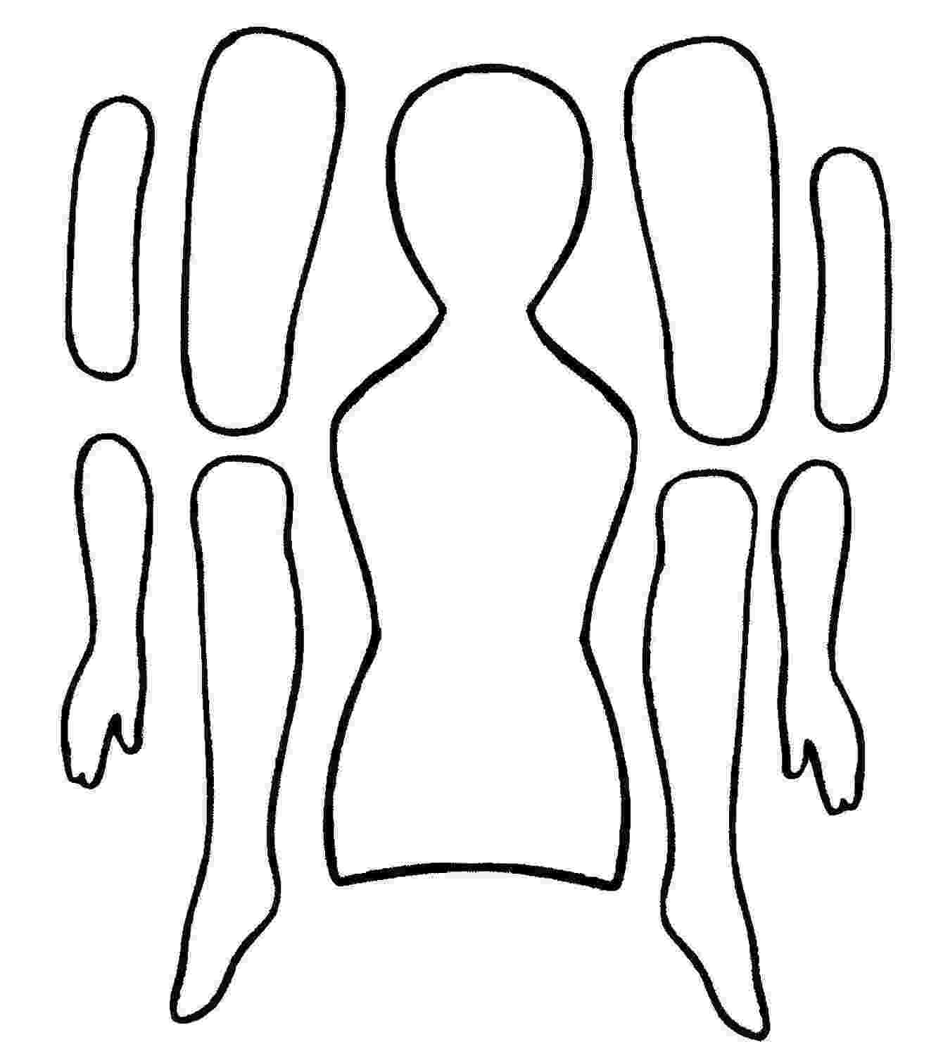 paper doll template paper doll template clipart best paper template doll