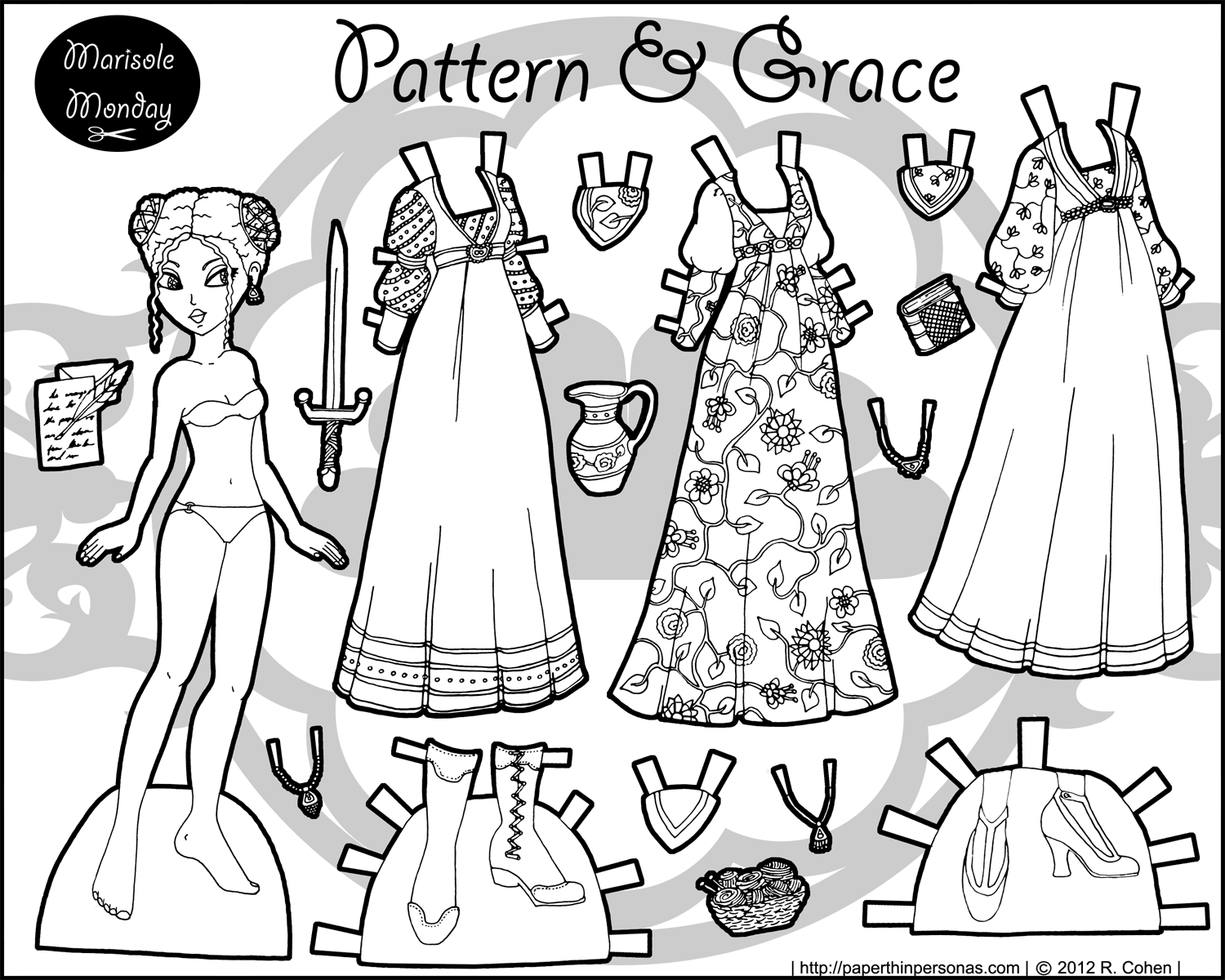 paper dress up dolls printable doll coloring pages getcoloringpagescom dolls dress paper up printable