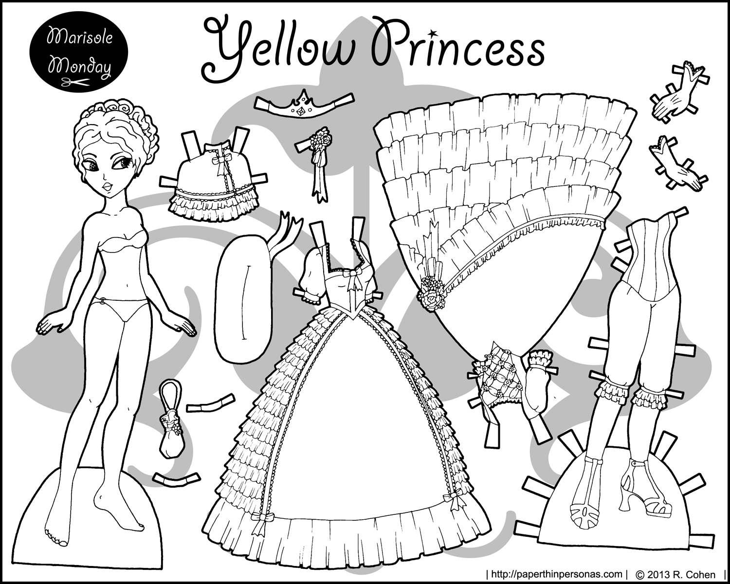paper dress up four paper dolls in black and white for coloring up dress paper