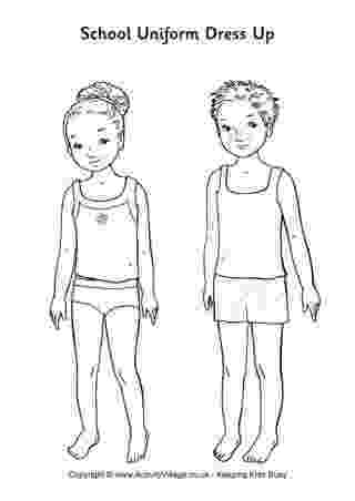 paper dress up school uniform paper dolls use for modesty lesson paper up dress