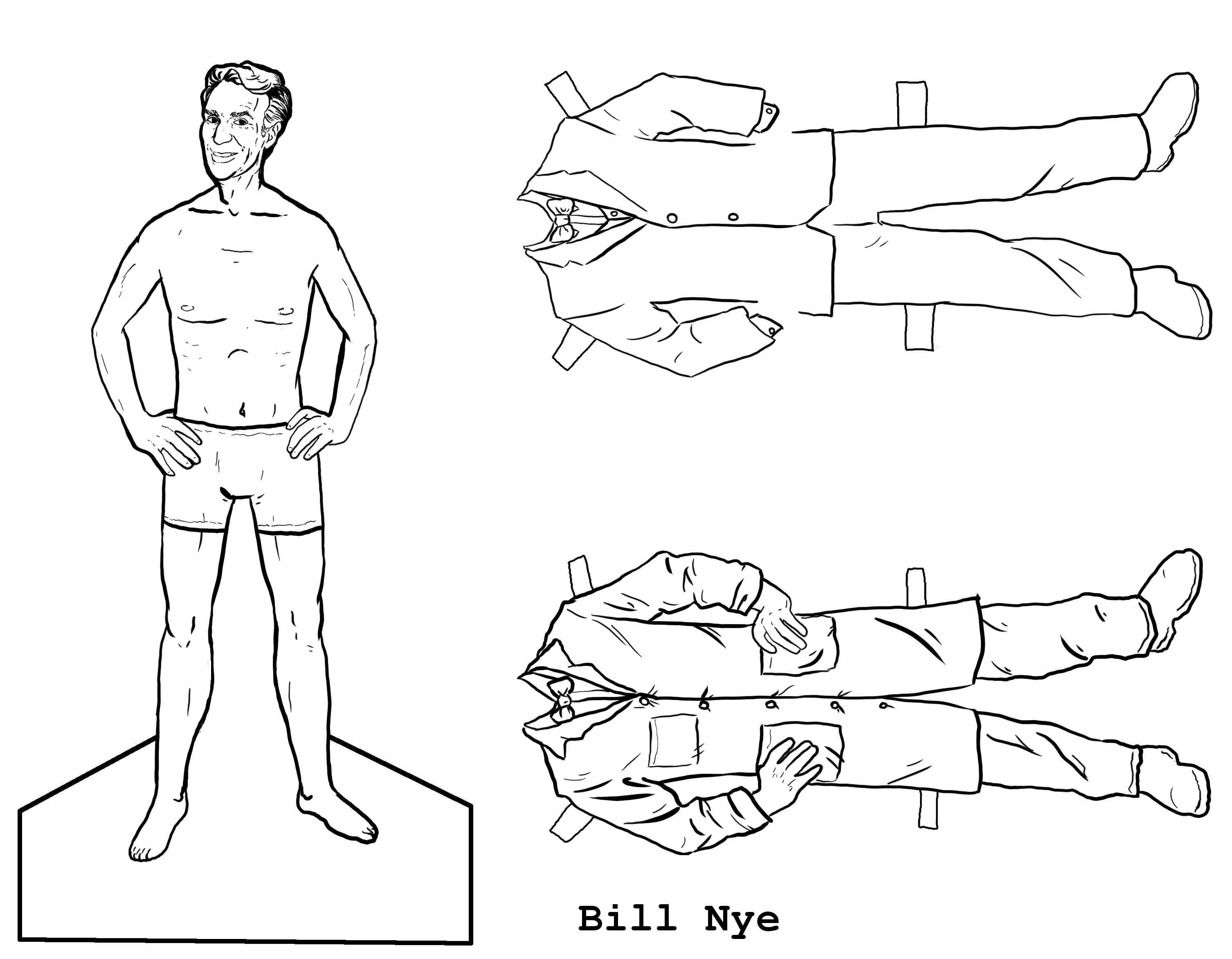 paper dress up scientist paper dolls illustrations paper up dress