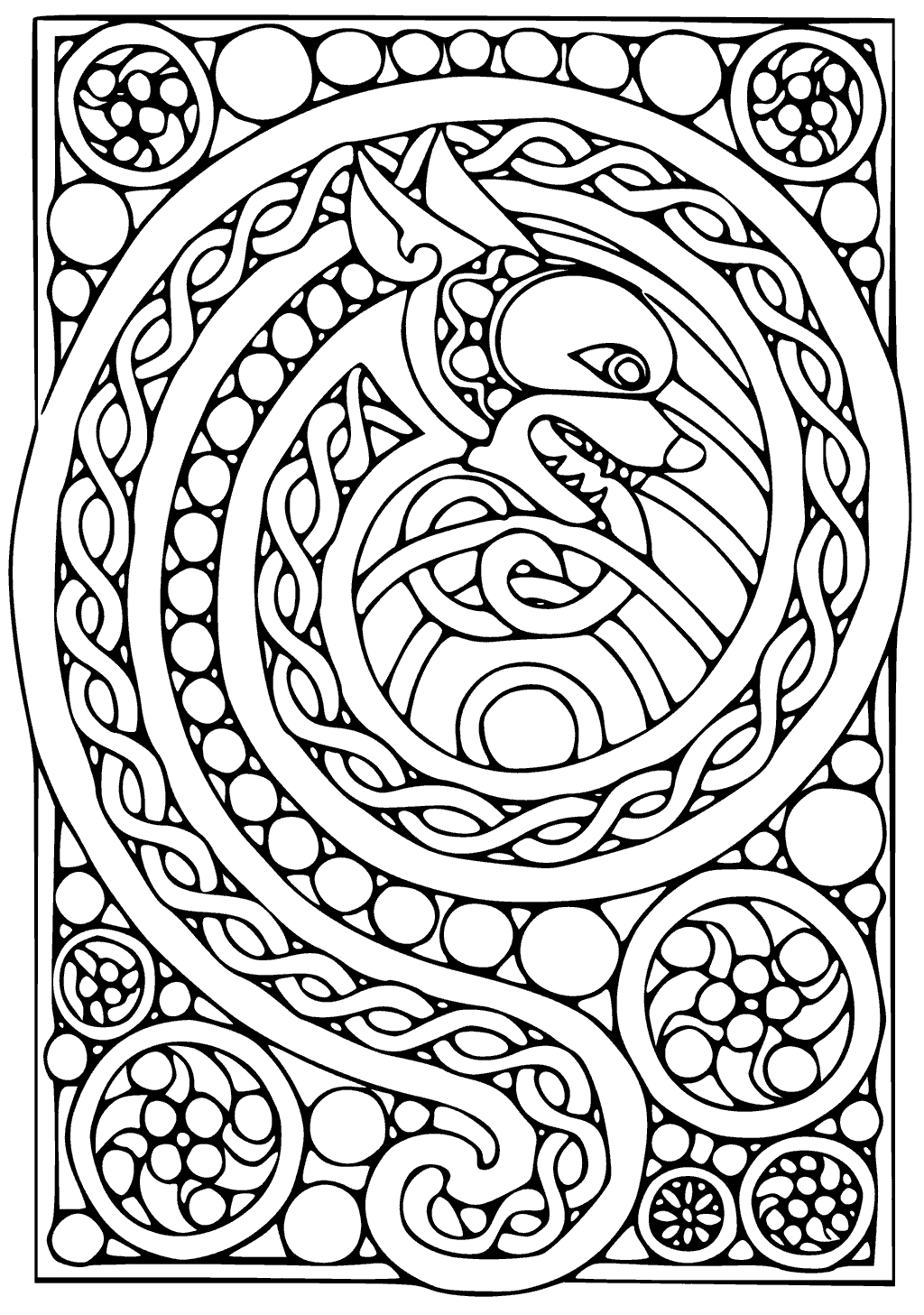 patterned coloring pages pattern animal coloring pages download and print for free patterned coloring pages 1 1