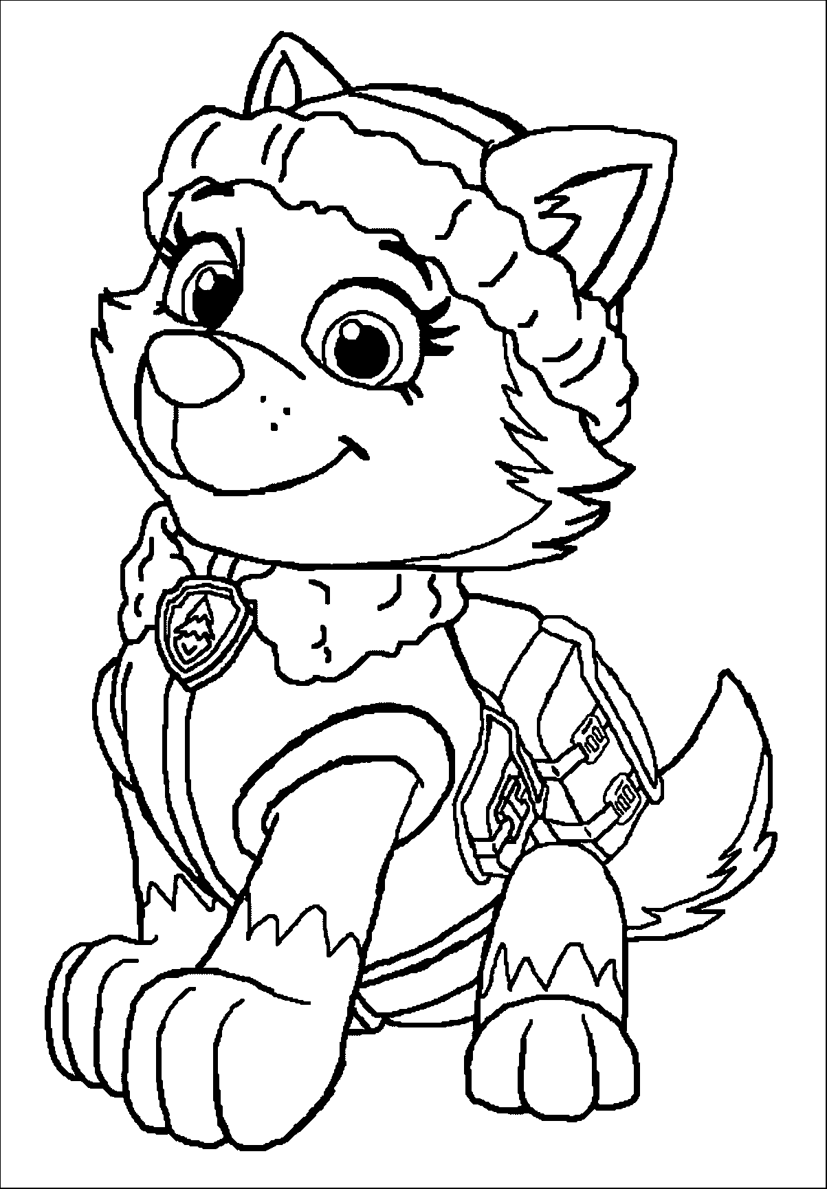 paw patrol coloring pages everest badge paw patrol coloring pages everest at getcoloringscom everest paw badge coloring patrol pages
