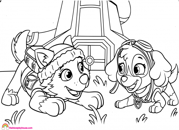 paw patrol coloring pages everest badge paw patrol coloring pages paw patrol coloring paw coloring pages patrol badge paw everest