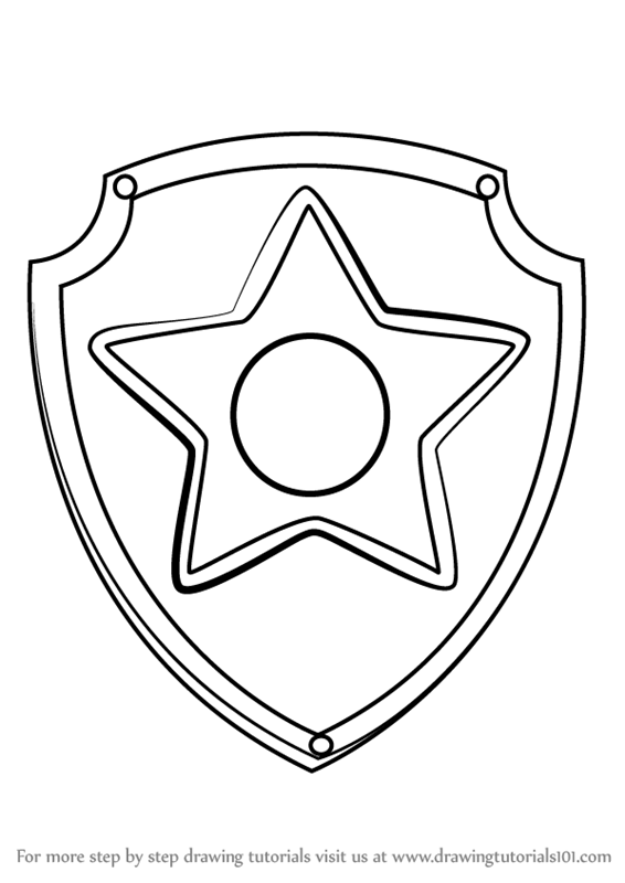 paw patrol coloring pages everest badge paw patrol rubble coloring page free coloring pages online badge paw pages coloring everest patrol