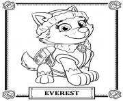 paw patrol coloring pages everest badge paw patrol tracker coloring pages getcoloringpagescom pages paw badge patrol coloring everest