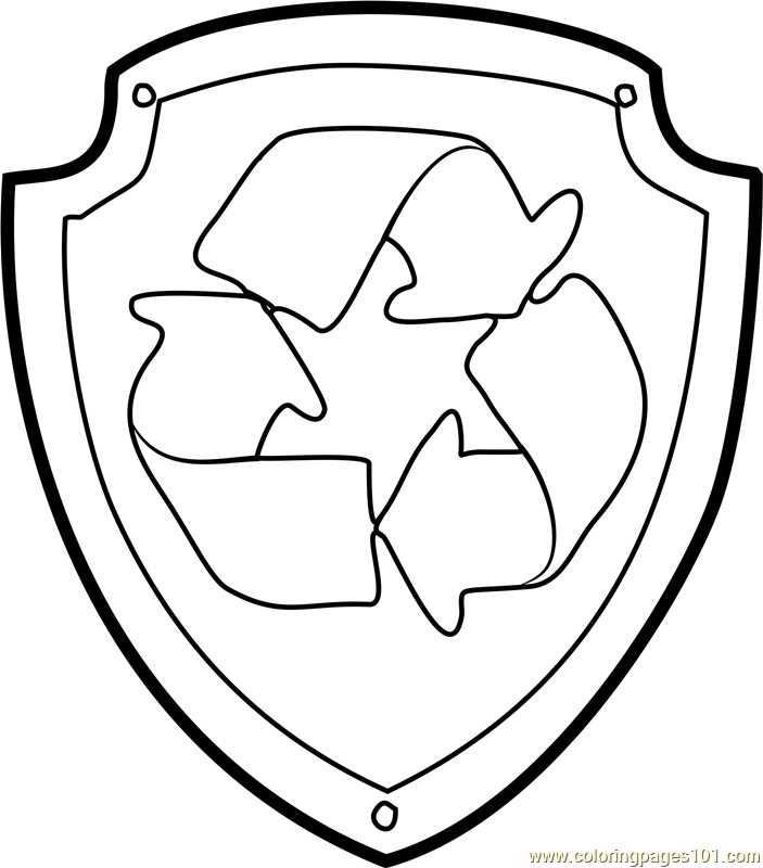 paw patrol coloring pages everest badge rocky badge coloring page free paw patrol coloring pages pages everest coloring badge patrol paw