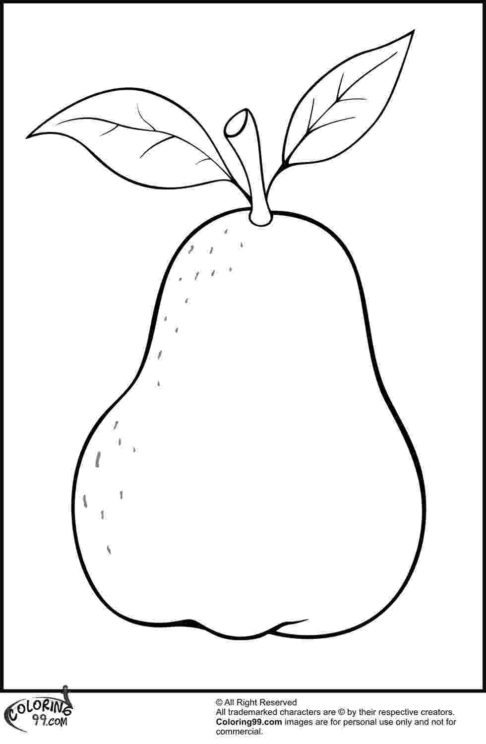 pear coloring page fruits coloring pages crafts and worksheets for coloring page pear