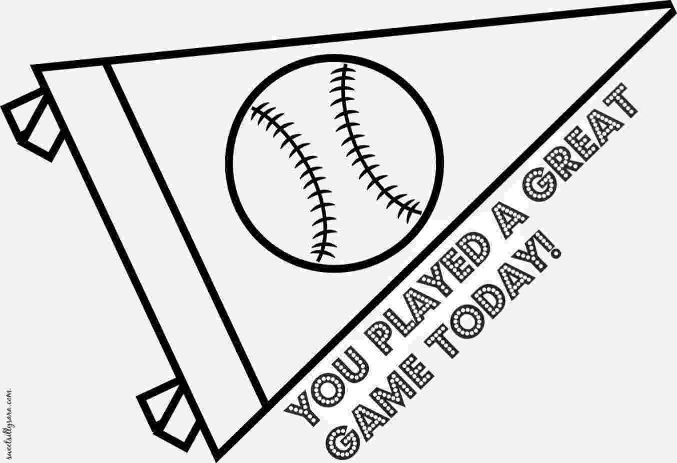 pennant coloring page two pennants print color fun free printables pennant coloring page