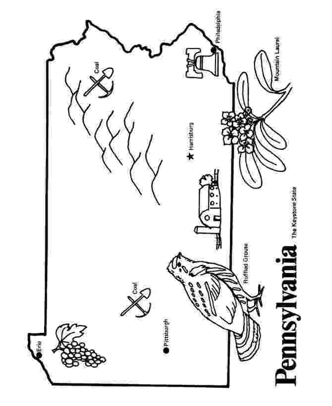 pennsylvania coloring pages usa printables pennsylvania state stamp us states pennsylvania coloring pages
